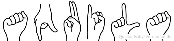Aquila in Fingersprache für Gehörlose