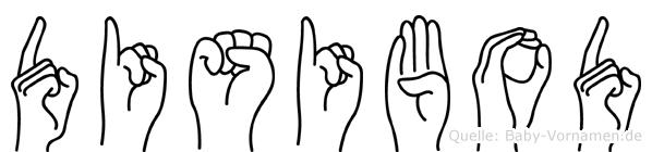 Disibod in Fingersprache für Gehörlose