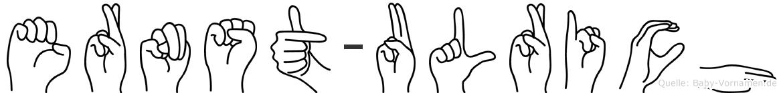 Ernst-Ulrich im Fingeralphabet der Deutschen Gebärdensprache