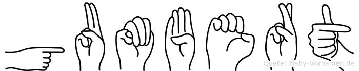 Gumbert in Fingersprache für Gehörlose