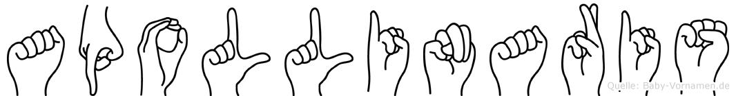 Apollinaris in Fingersprache für Gehörlose