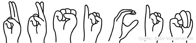 Ursicin in Fingersprache für Gehörlose