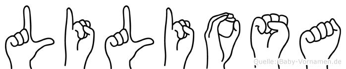 Liliosa in Fingersprache für Gehörlose