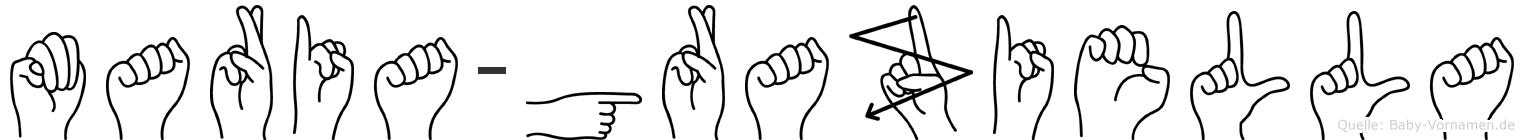 Maria-Graziella im Fingeralphabet der Deutschen Gebärdensprache