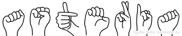 Asteria in Fingersprache für Gehörlose