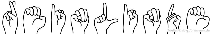 Reinlinde in Fingersprache für Gehörlose