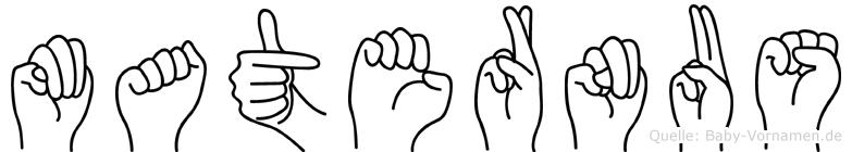 Maternus im Fingeralphabet der Deutschen Gebärdensprache
