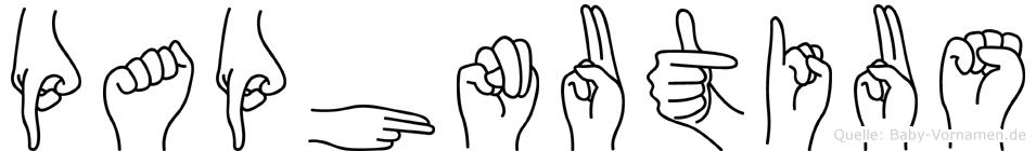 Paphnutius in Fingersprache für Gehörlose