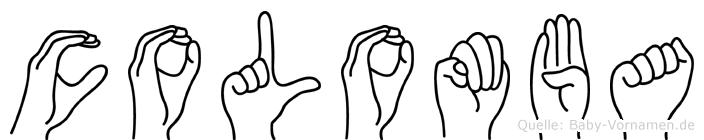 Colomba in Fingersprache für Gehörlose