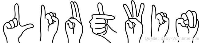 Liutwin in Fingersprache für Gehörlose