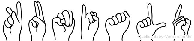 Kuniald in Fingersprache für Gehörlose