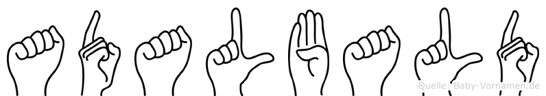 Adalbald im Fingeralphabet der Deutschen Gebärdensprache