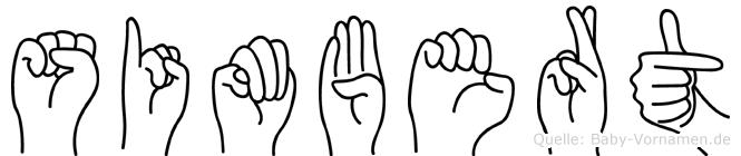 Simbert in Fingersprache für Gehörlose