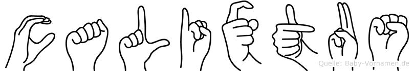 Calixtus im Fingeralphabet der Deutschen Gebärdensprache