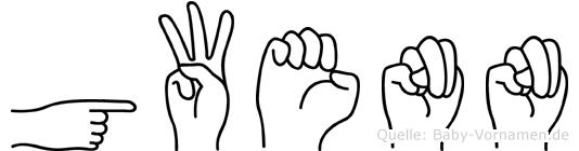 Gwenn in Fingersprache für Gehörlose