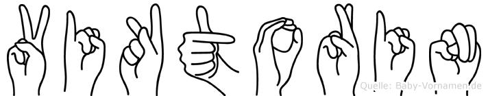 Viktorin in Fingersprache für Gehörlose