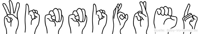 Winnifred in Fingersprache für Gehörlose