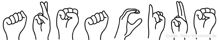 Arsacius in Fingersprache für Gehörlose