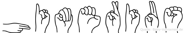 Himerius in Fingersprache für Gehörlose