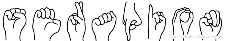 Serapion in Fingersprache für Gehörlose
