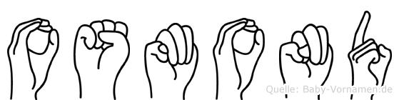 Osmond in Fingersprache für Gehörlose