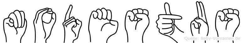 Modestus in Fingersprache für Gehörlose