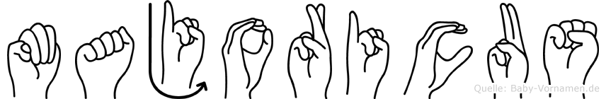 Majoricus im Fingeralphabet der Deutschen Gebärdensprache