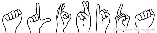 Alfrida in Fingersprache für Gehörlose