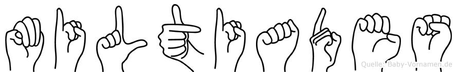 Miltiades in Fingersprache für Gehörlose