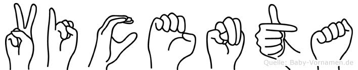 Vicenta in Fingersprache für Gehörlose