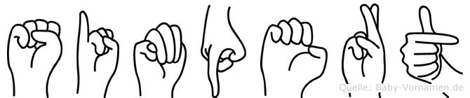 Simpert in Fingersprache für Gehörlose