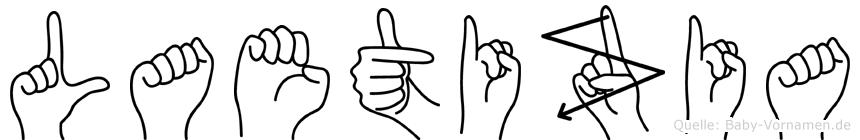 Laetizia in Fingersprache für Gehörlose
