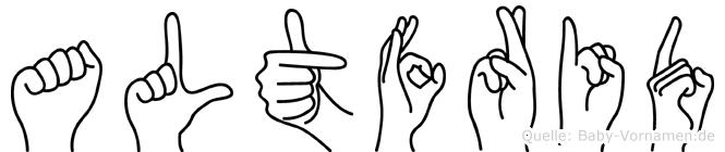 Altfrid im Fingeralphabet der Deutschen Gebärdensprache