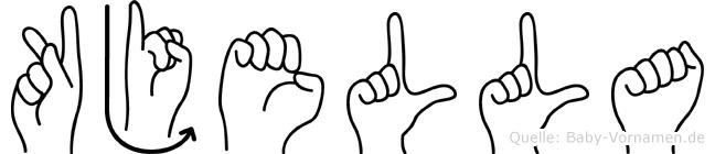 Kjella im Fingeralphabet der Deutschen Gebärdensprache