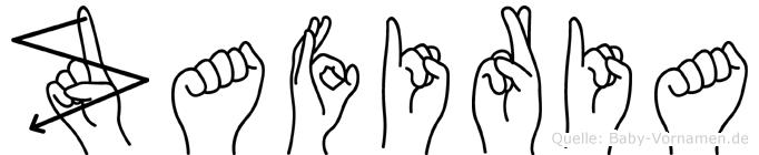 Zafiria im Fingeralphabet der Deutschen Gebärdensprache