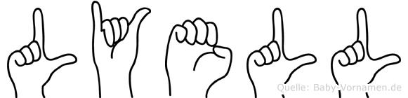 Lyell im Fingeralphabet der Deutschen Gebärdensprache