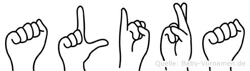Alira in Fingersprache für Gehörlose
