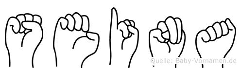 Seina im Fingeralphabet der Deutschen Gebärdensprache