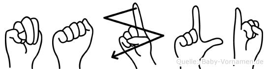 Nazli im Fingeralphabet der Deutschen Gebärdensprache