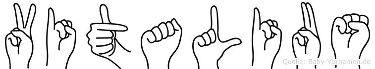 Vitalius in Fingersprache für Gehörlose