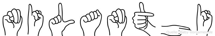 Nilanthi im Fingeralphabet der Deutschen Gebärdensprache