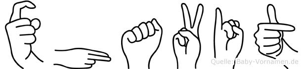 Xhavit in Fingersprache für Gehörlose