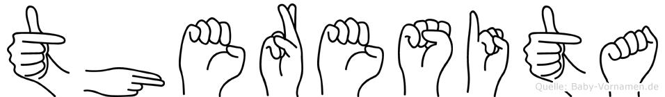 Theresita im Fingeralphabet der Deutschen Gebärdensprache