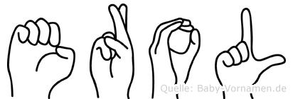 Erol im Fingeralphabet der Deutschen Gebärdensprache