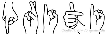 Priti in Fingersprache für Gehörlose