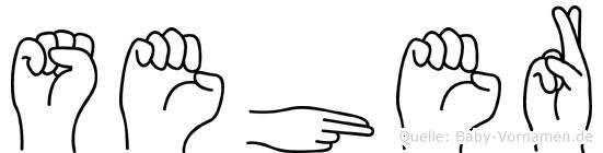 Seher im Fingeralphabet der Deutschen Gebärdensprache