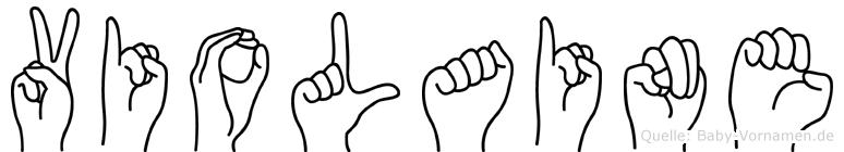 Violaine im Fingeralphabet der Deutschen Gebärdensprache