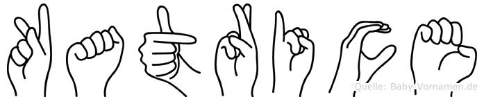 Katrice im Fingeralphabet der Deutschen Gebärdensprache