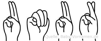 Umur in Fingersprache für Gehörlose