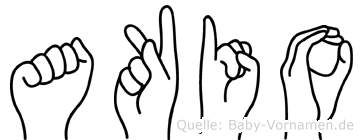 Akio in Fingersprache für Gehörlose
